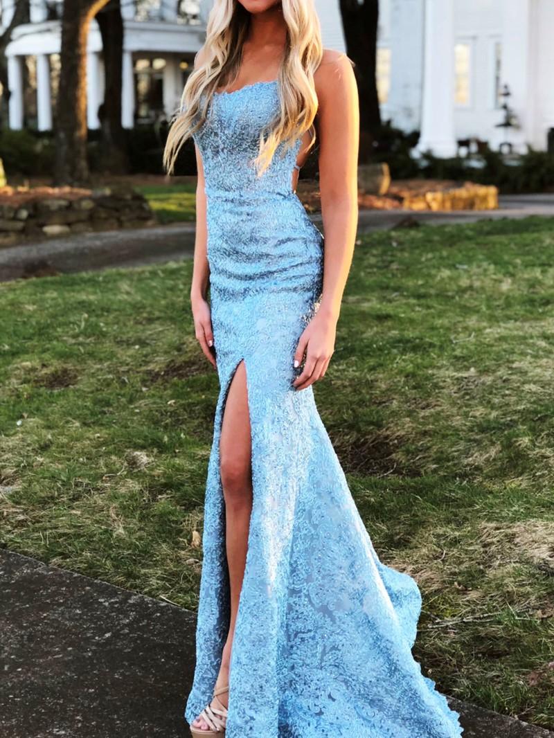 Ericdress Criss-Cross Straps Mermaid Lace Evening Dress