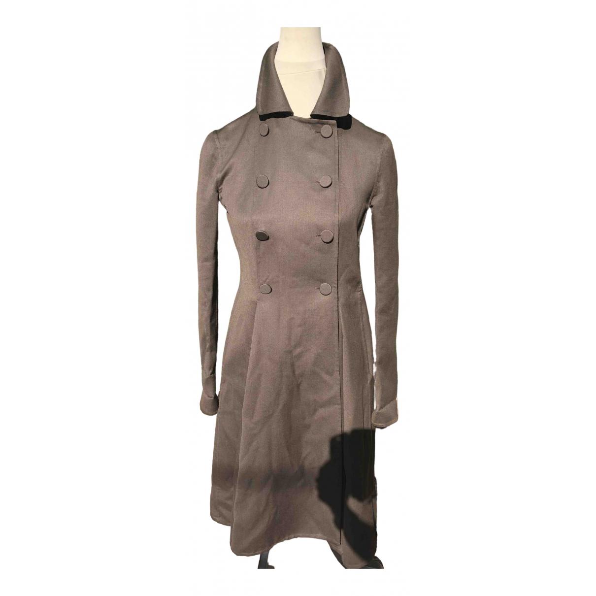 Moschino \N Khaki Wool coat for Women 38 FR