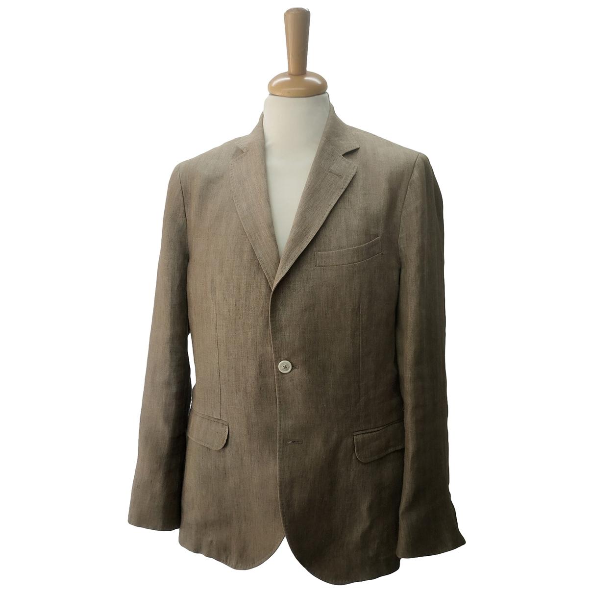 Massimo Dutti - Vestes.Blousons   pour homme en lin - beige