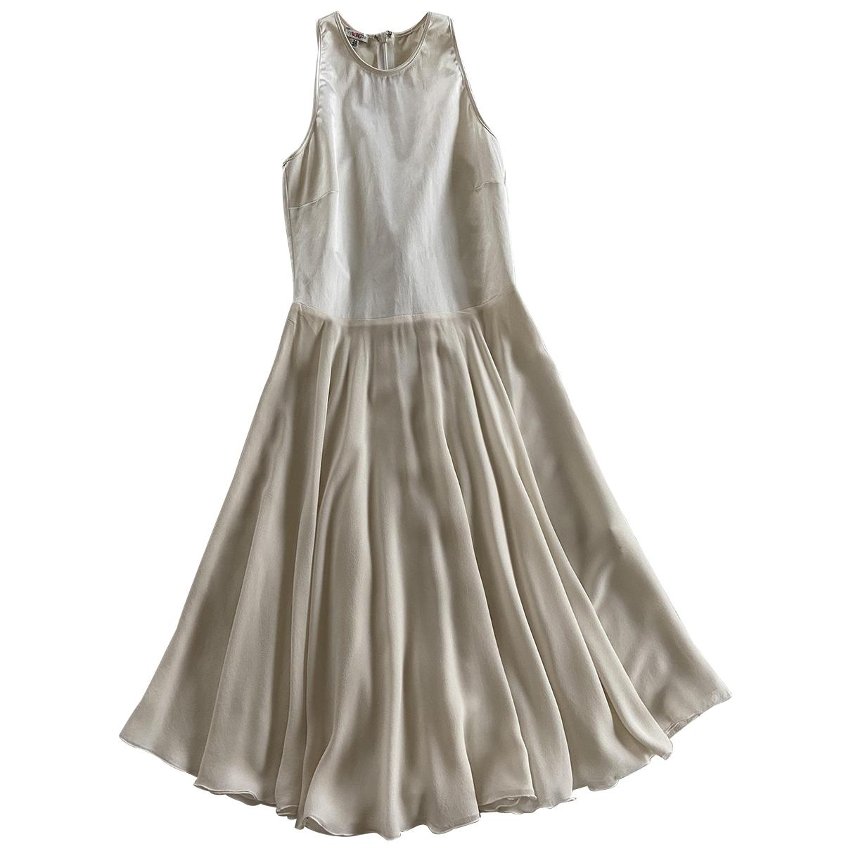 Versace Jeans \N Kleid in  Weiss Seide