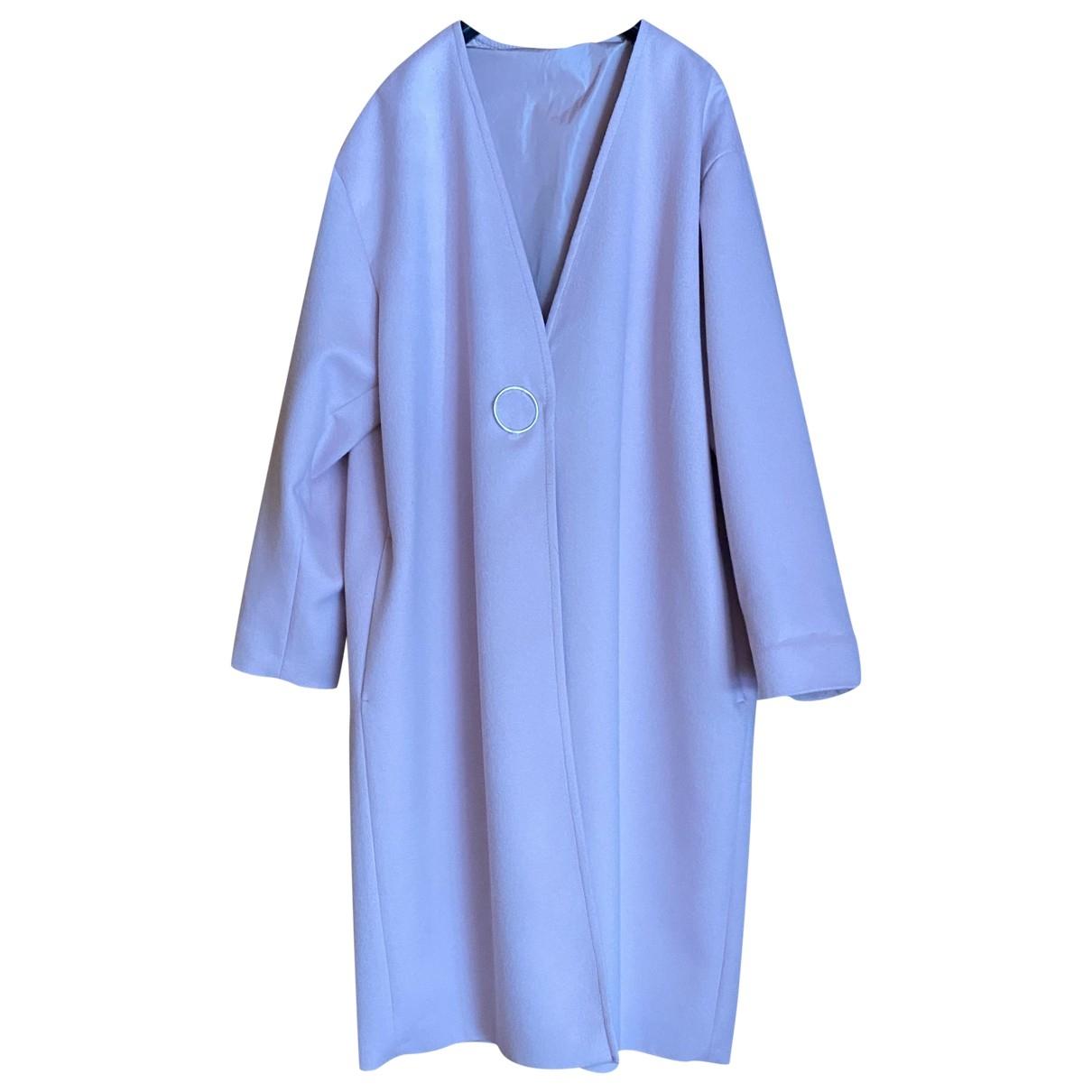 Sport Max \N Pink Wool coat for Women 42 IT