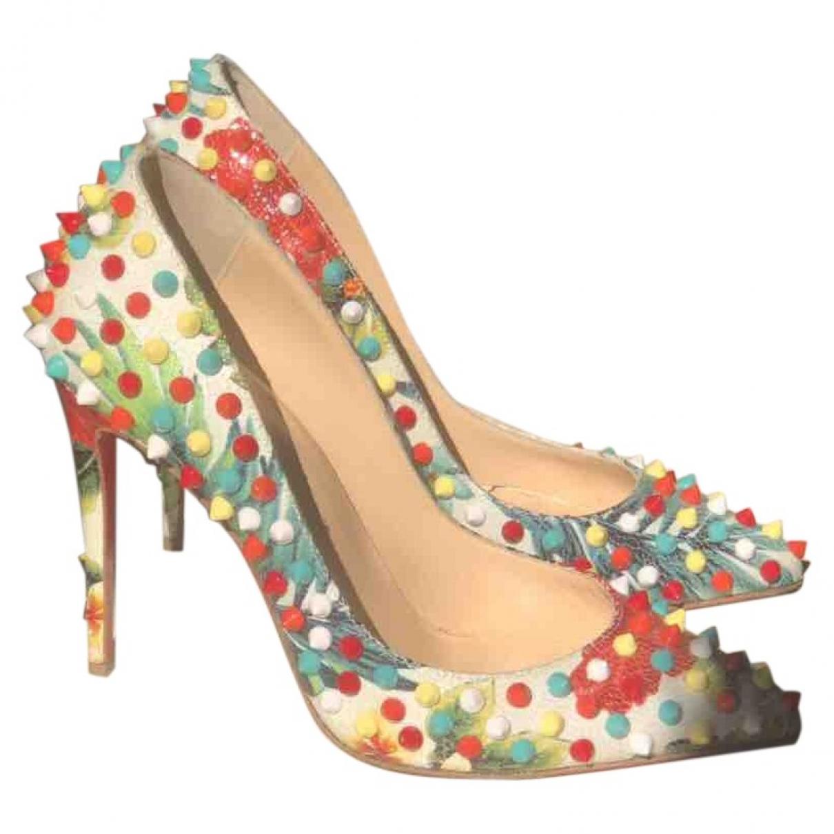 Christian Louboutin \N Multicolour Leather Heels for Women 35 EU