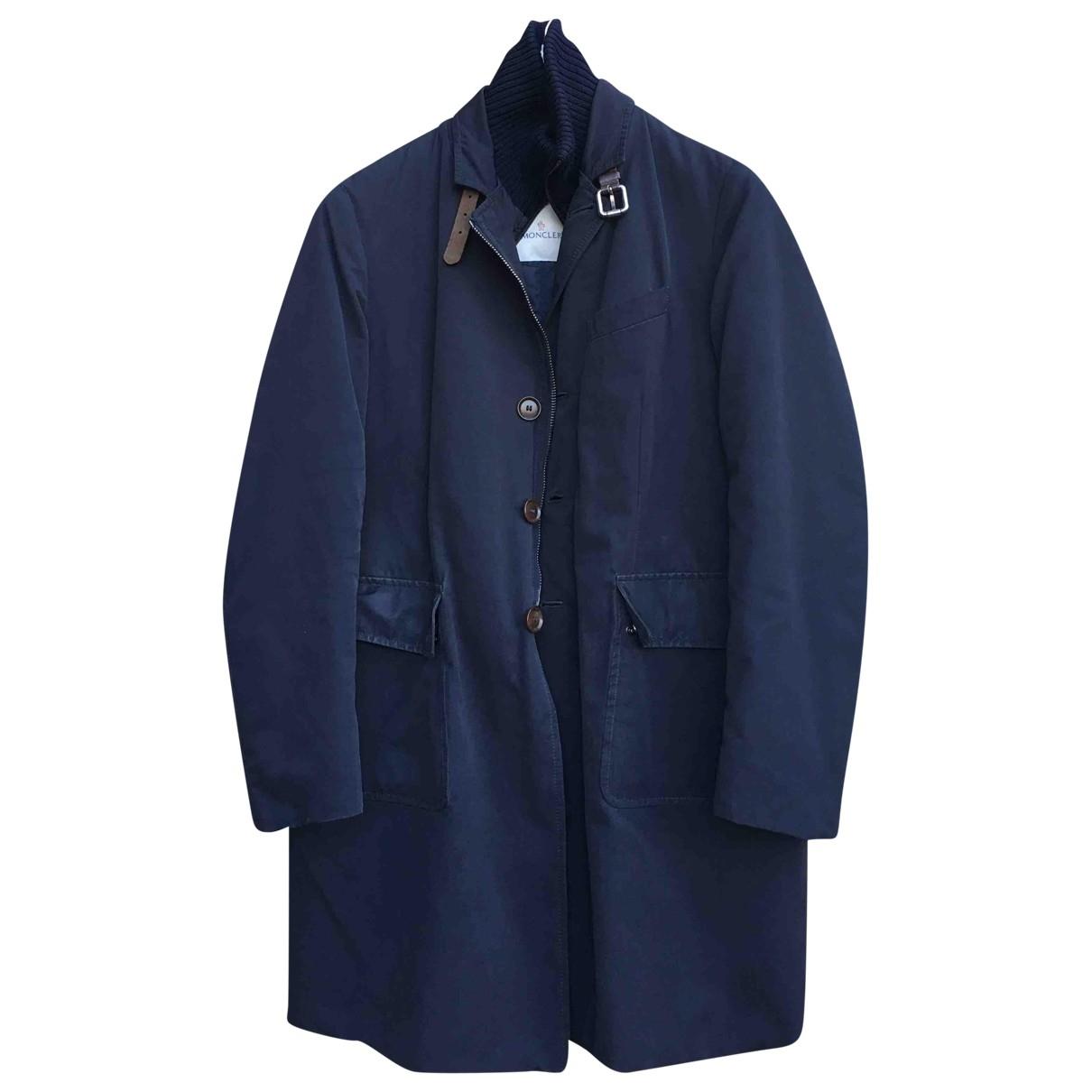 Moncler - Manteau   pour homme - bleu
