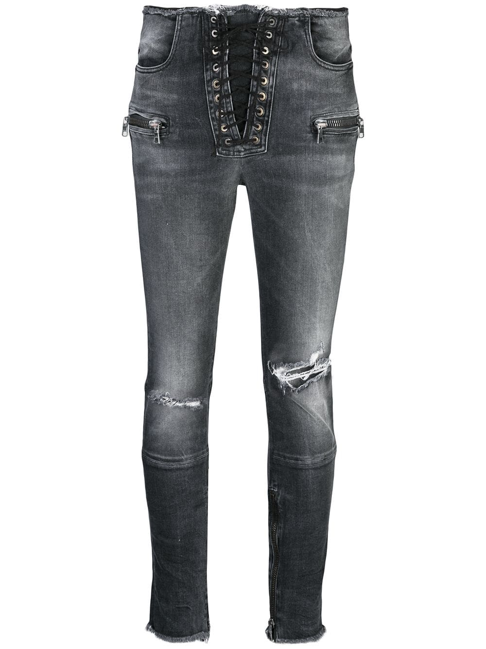 Skinny Lace Up Trousers