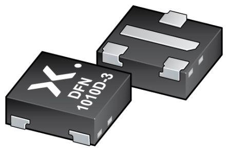 Nexperia 3 N-Channel MOSFET, 3.2 A, 12 V, 4-Pin DFN1010D-3, SOT1215  PMXB40UNEZ (5000)