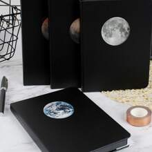 1pack Random Moon Print Cover Notebook