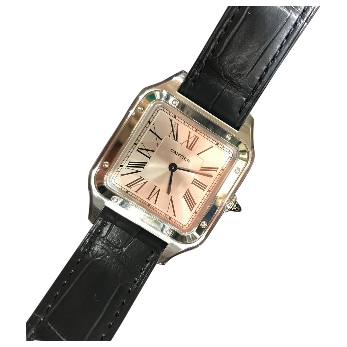 Cartier Santos Dumont  Uhr in  Silber Stahl