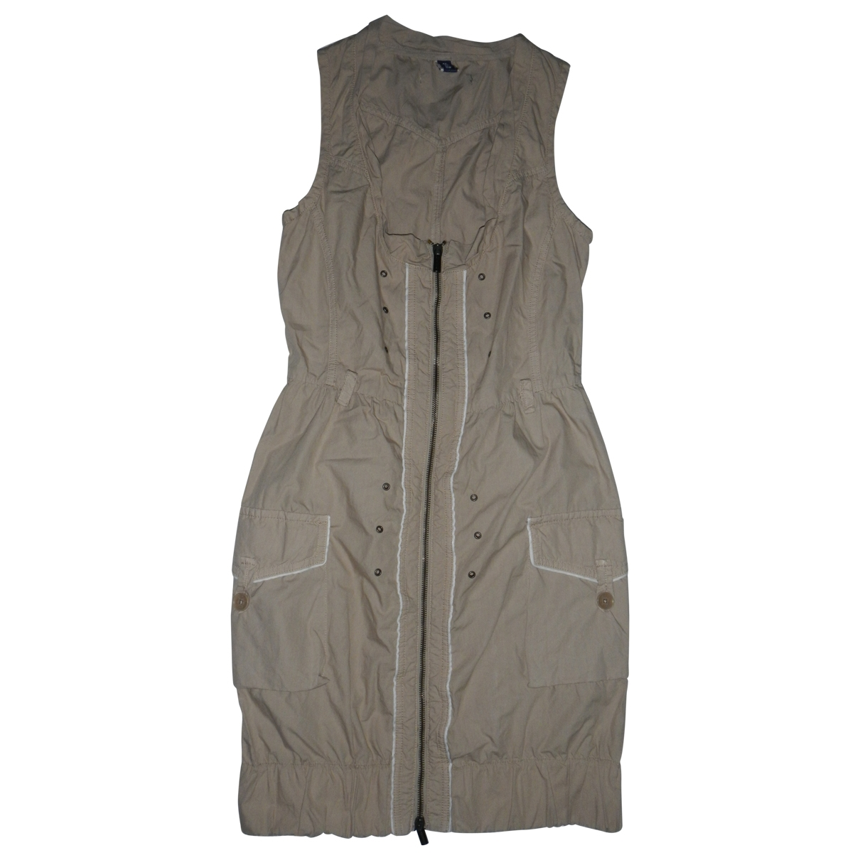 Jean Paul Gaultier \N Kleid in  Beige Baumwolle
