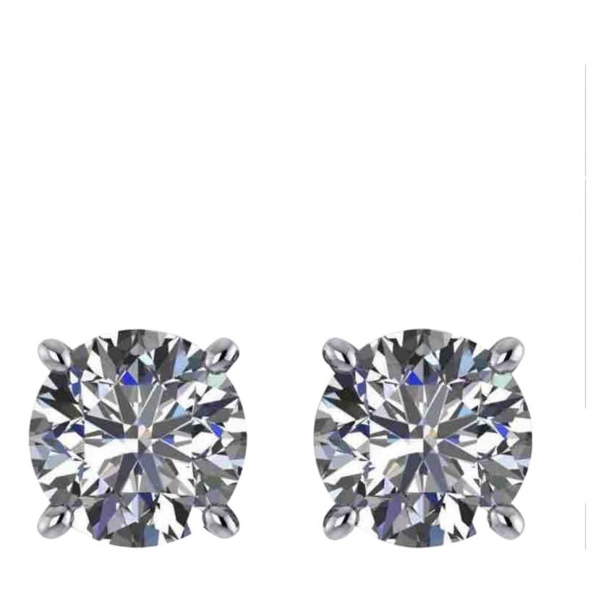- Boucles doreilles Puces en diamants pour femme en or jaune
