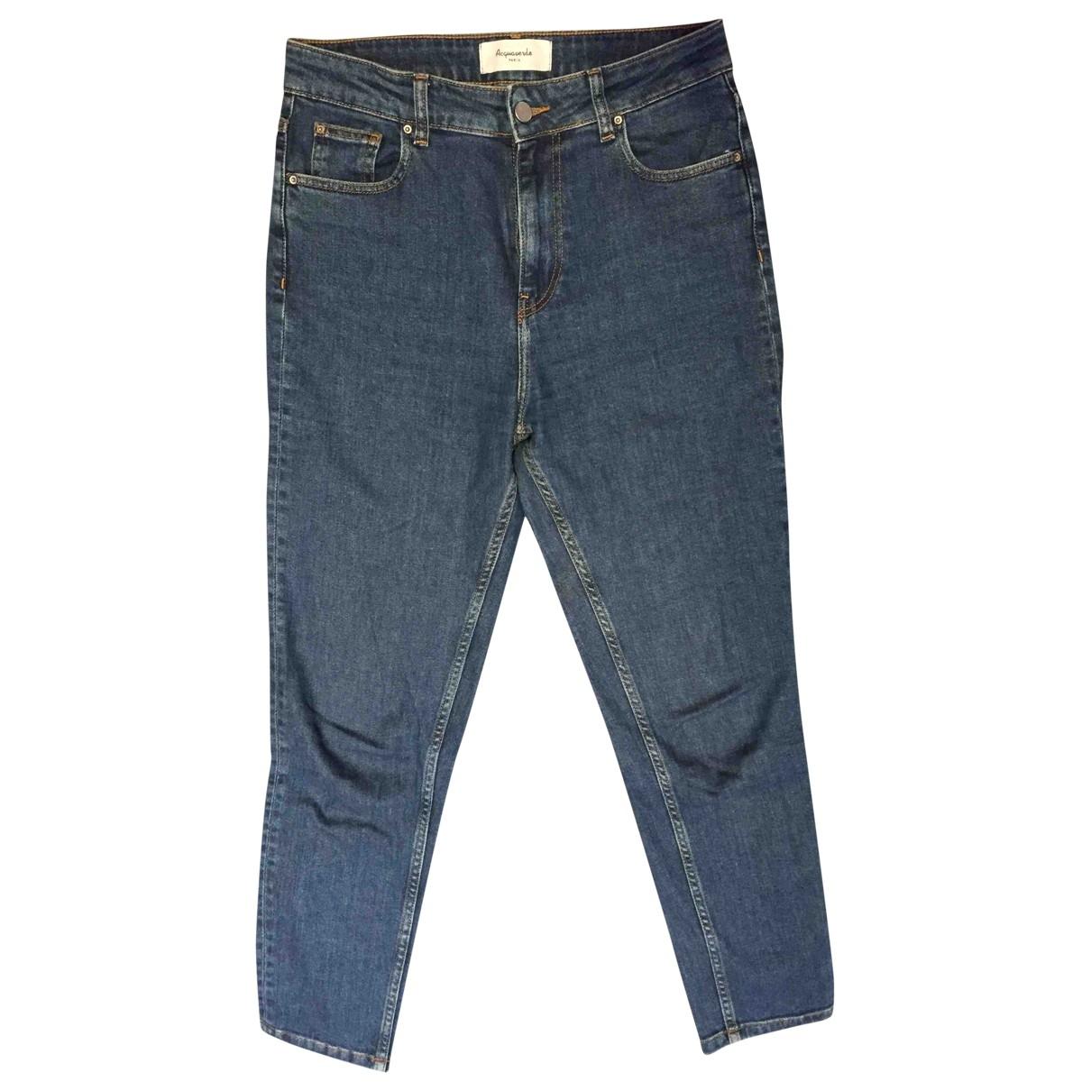 Acquaverde \N Blue Cotton Jeans for Women 28 US