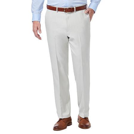 Haggar Premium Comfort Dress Pant Classic Fit Flat Front, 36 34, White