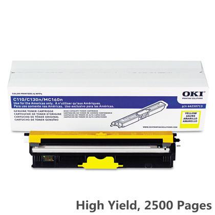 Okidata 44250713 cartouche de toner originale jaune haute capacite