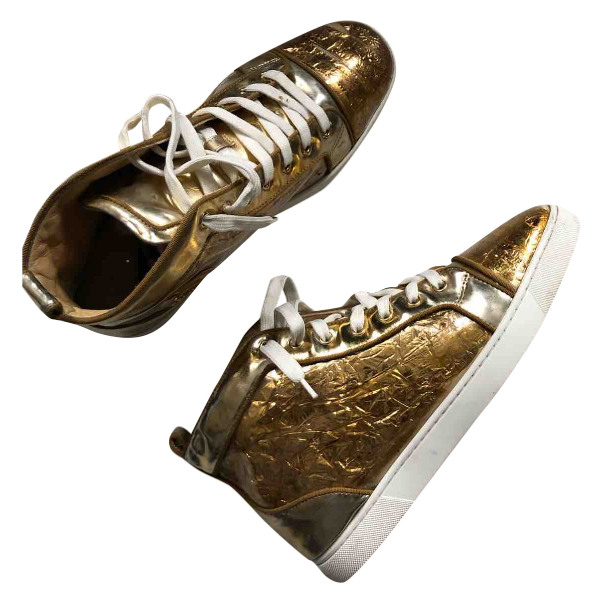 Christian Louboutin Louis Sneakers in  Gold Leder