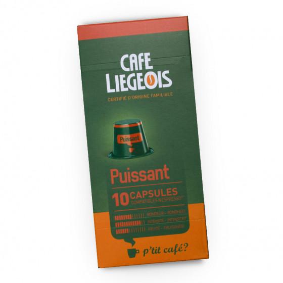 """Kaffeekapseln Cafe Liegeois """"Puissant"""", 10 Stk."""
