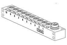 Molex 120247 Series M8 I/O module, 10 Port