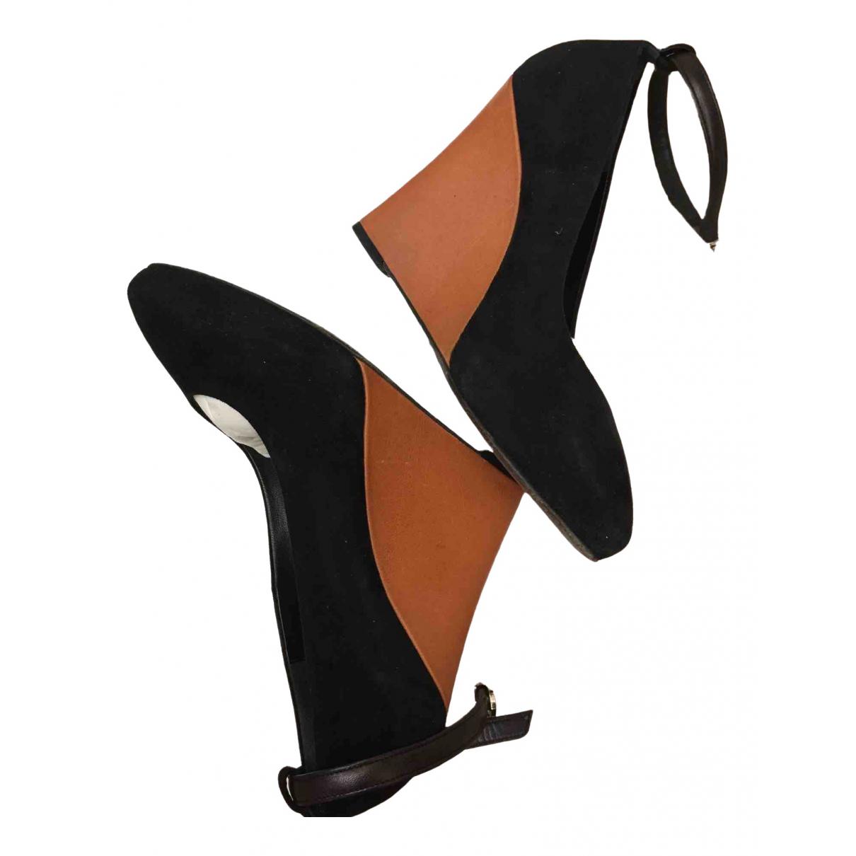 Celine \N Black Velvet Heels for Women 36 EU
