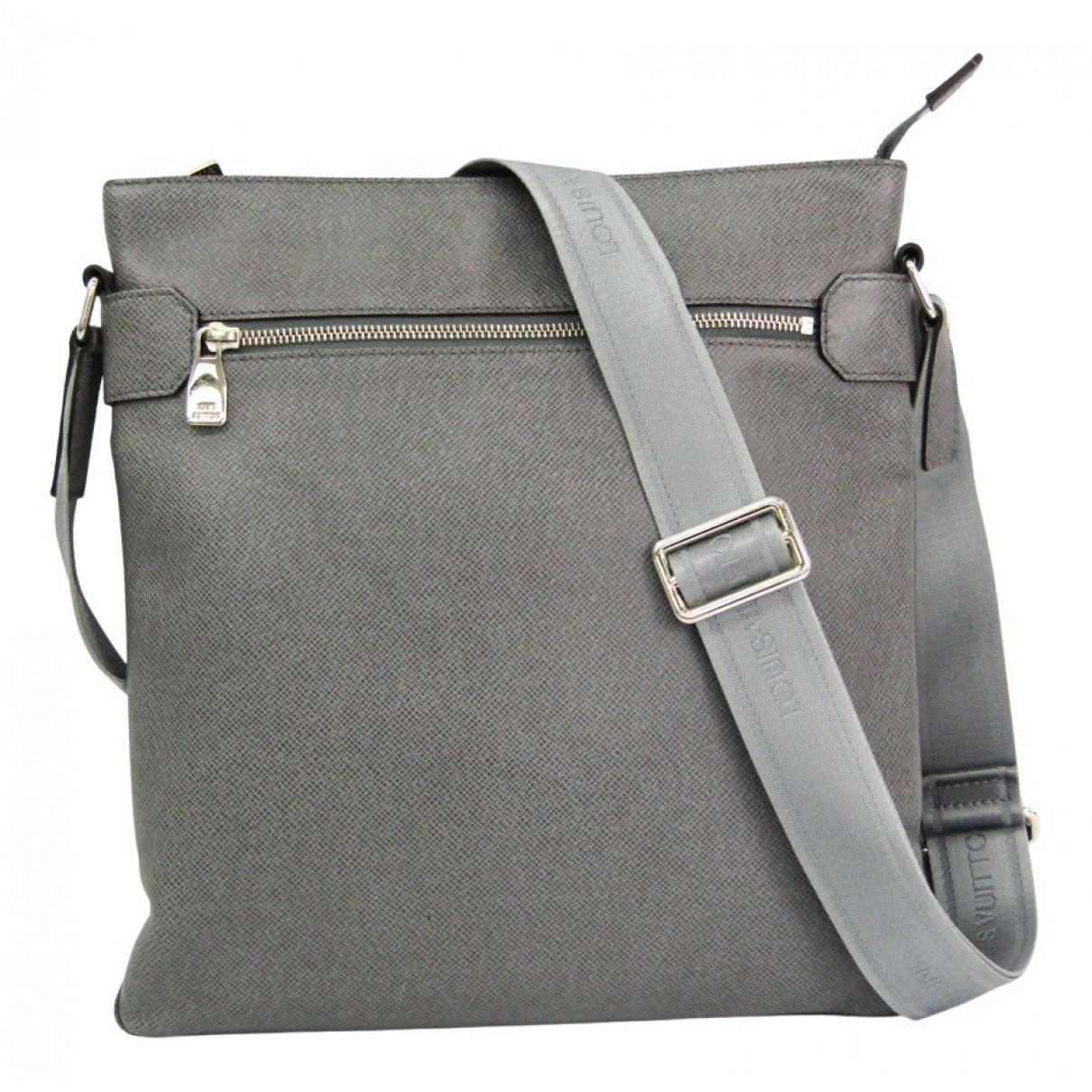 Louis Vuitton N Grey Leather bag for Men N