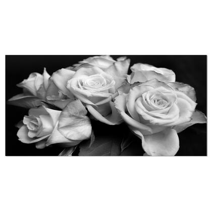 PT9986-60-28 Bunch Of Roses Black And White - Floral Art Canvas Print -