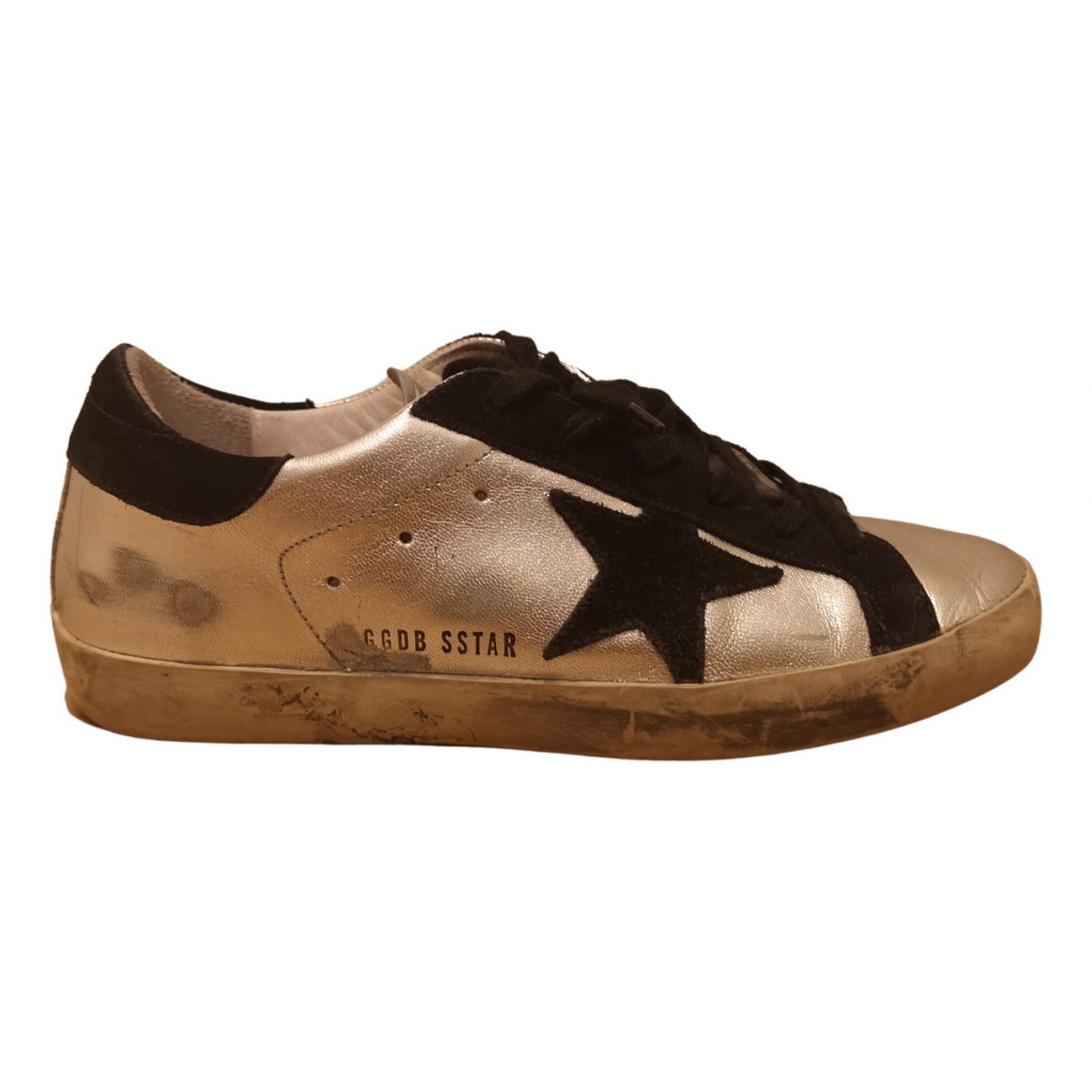 Golden Goose Superstar Silver Leather Trainers for Women 38 EU