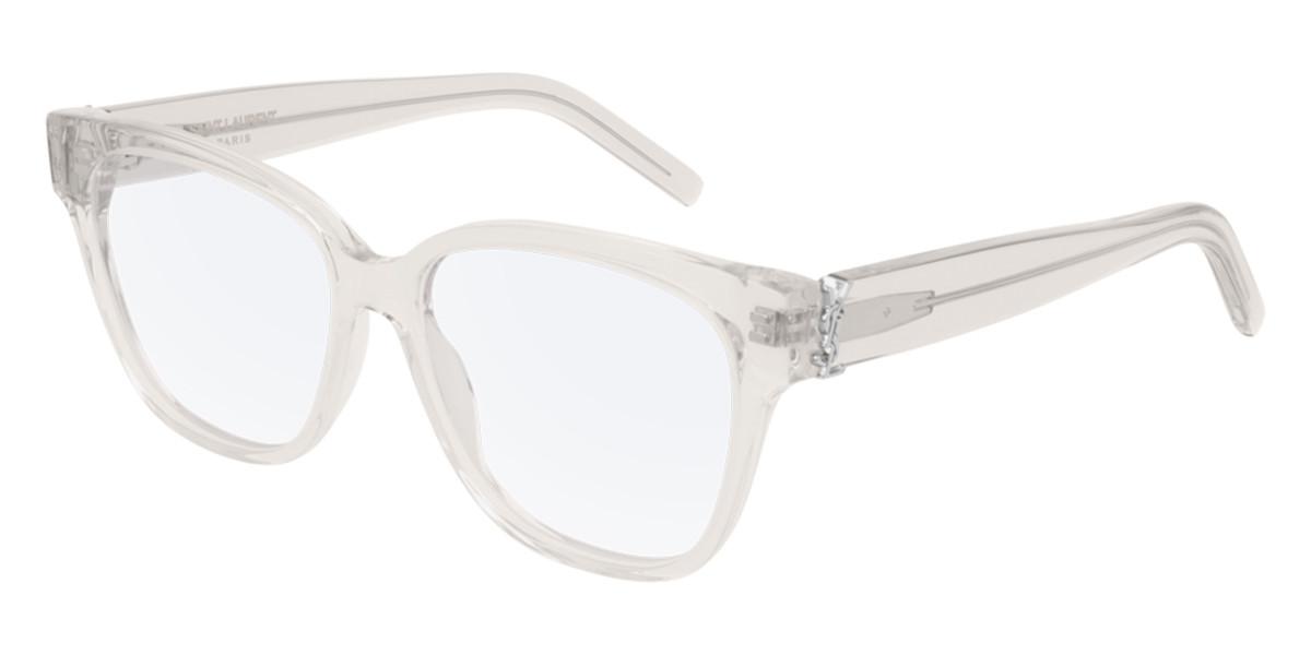 Saint Laurent SL M33 007 Women's Glasses Brown Size 53 - Free Lenses - HSA/FSA Insurance - Blue Light Block Available