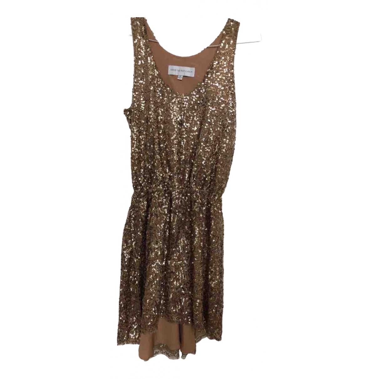 Dress The Population - Robe   pour femme en a paillettes - dore