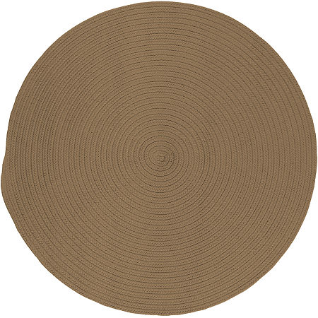 Colonial Mills Nantucket Reversible Braided Indoor/Outdoor Round Rug, One Size , Brown