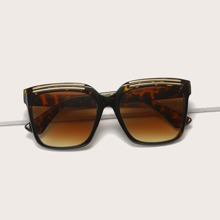 Metal Detail Tinted Lens Sunglasses