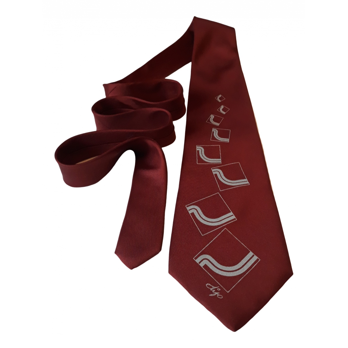 Non Signe / Unsigned \N Krawatten in  Orange Seide