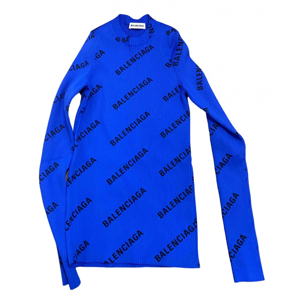 Balenciaga - Pull   pour femme - bleu