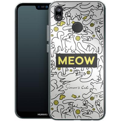 Huawei P20 Lite Silikon Handyhuelle - Meow von Simons Cat