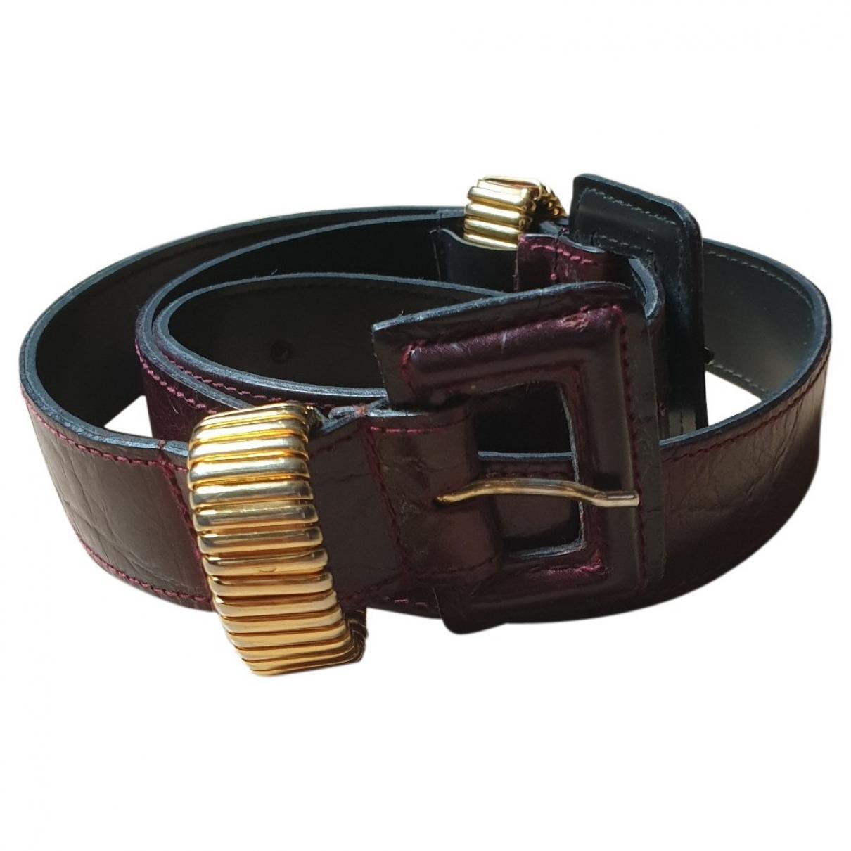 Furla \N Burgundy Leather belt for Women 85 cm