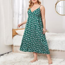 Plus Ditsy Floral Cami Night Dress