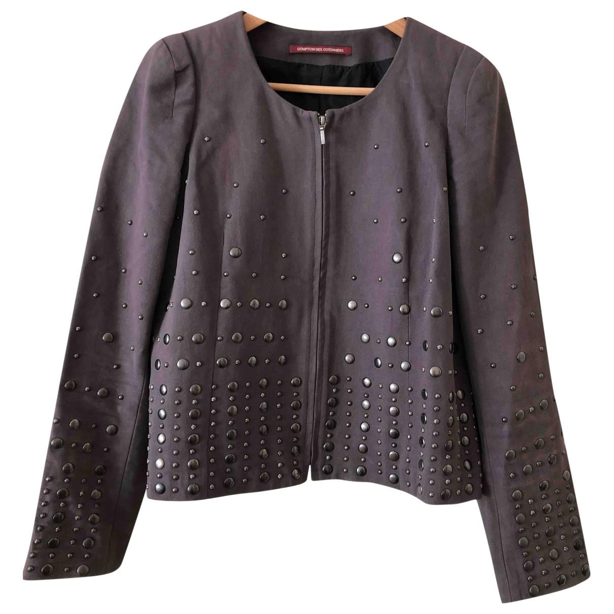 Comptoir Des Cotonniers - Veste   pour femme en coton - gris