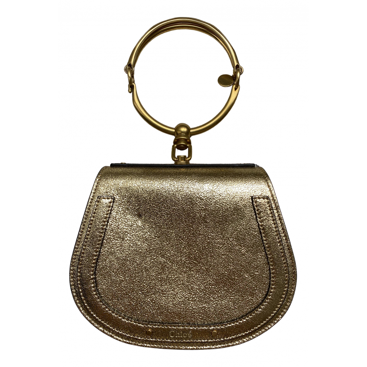 Chloe Bracelet Nile Clutch in  Gold Leder
