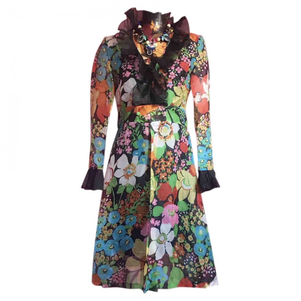 - Robe Hippie Chic pour femme en soie - multicolore