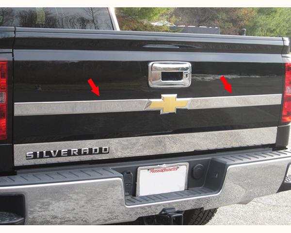 Quality Automotive Accessories 2-Piece Upper tailgate Accent bar Chevrolet Silverado 1500 2015