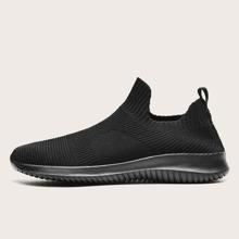 Maenner Slip On Sneakers mit weiter Passform