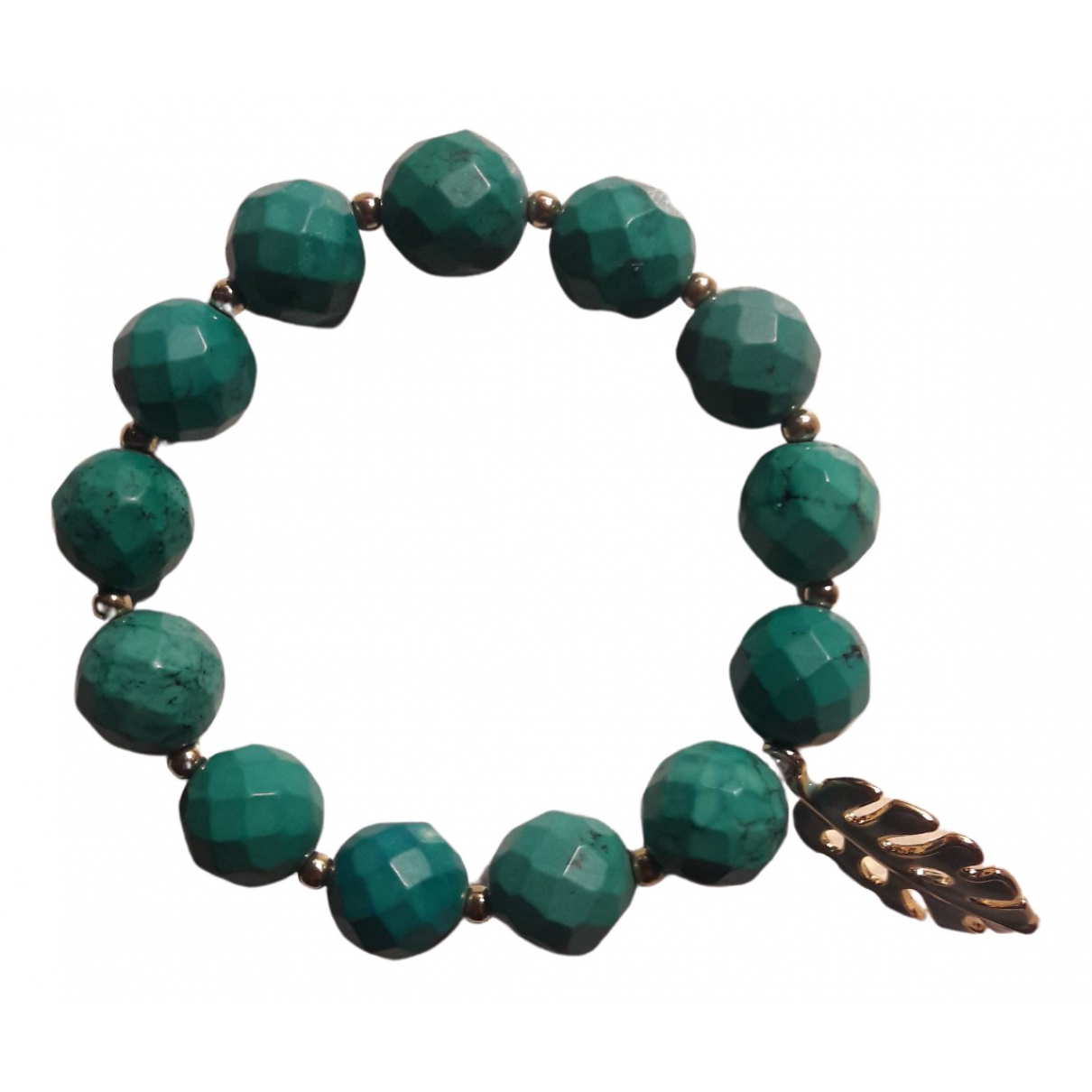 Non Signe / Unsigned Turquoises Armband in  Tuerkis Metall
