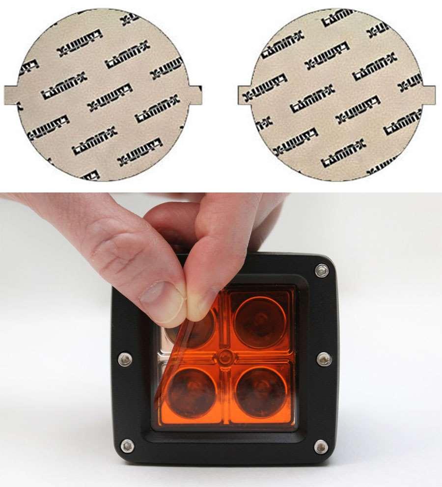 Kia Soul 14-18 Amber Fog Light Covers Lamin-X K125A