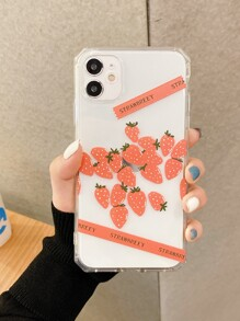 Strawberry Clear iPhone Case
