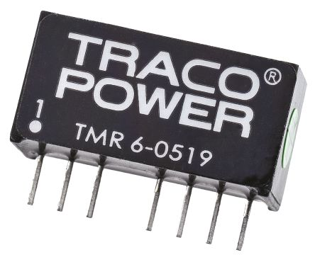 TRACOPOWER TMR 6 6W Isolated DC-DC Converter Through Hole, Voltage in 4.5 → 9 V dc, Voltage out 9V dc