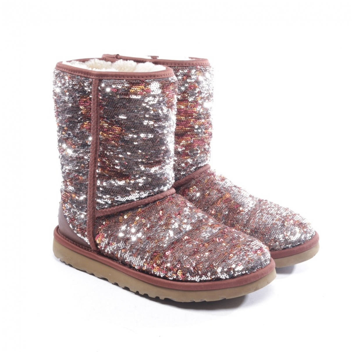 Ugg \N Brown Glitter Ankle boots for Women 37 EU