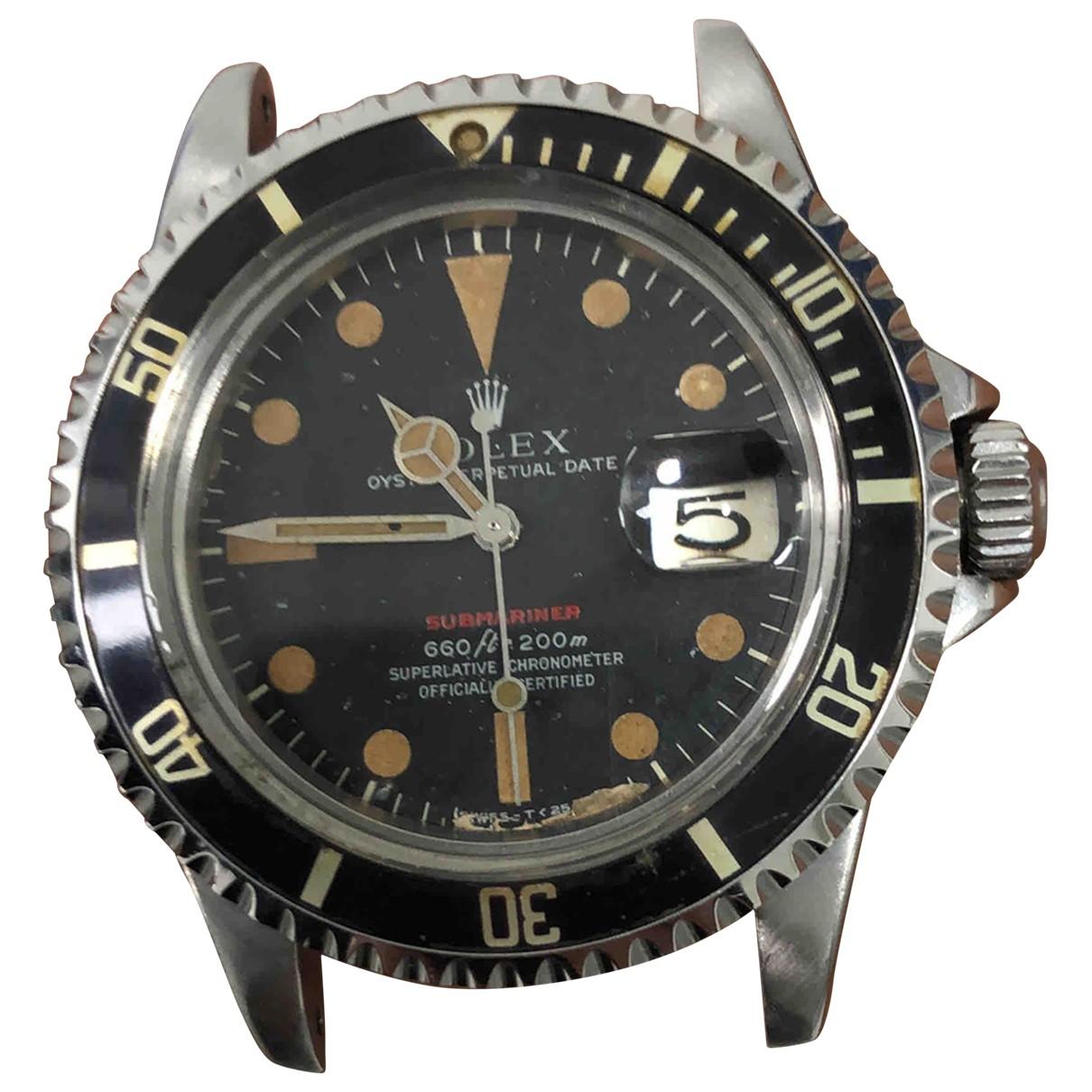 Rolex - Montre Submariner pour homme en acier - rouge