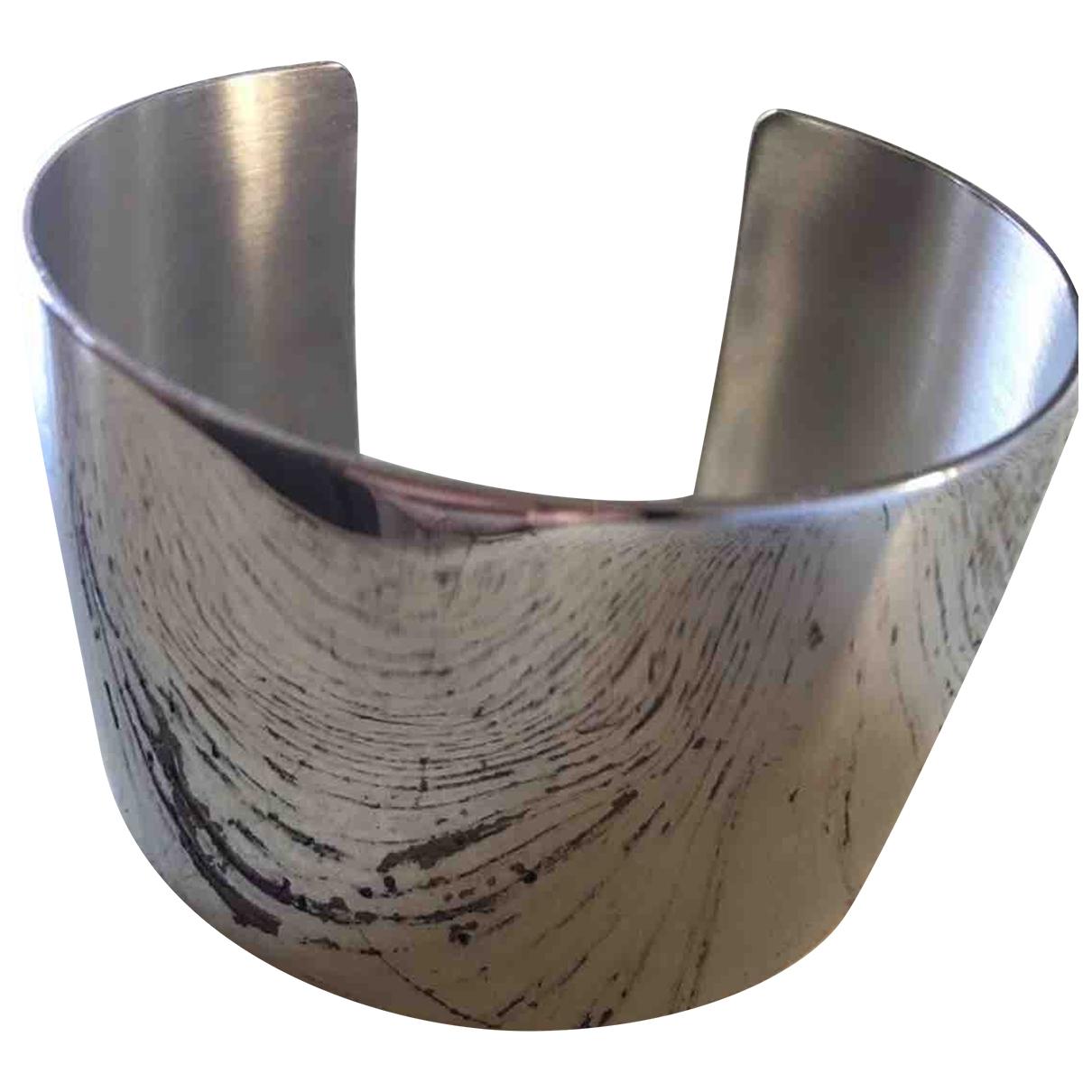 - Bracelet Manchette pour femme en acier - argente
