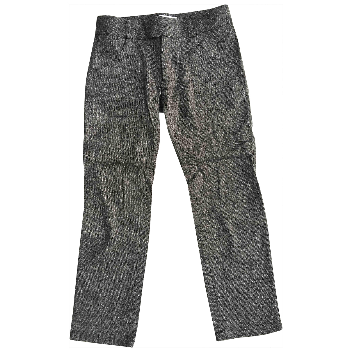 Roland Mouret \N Grey Wool Trousers for Women 8 UK