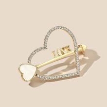 Arrow Heart Design Brooch