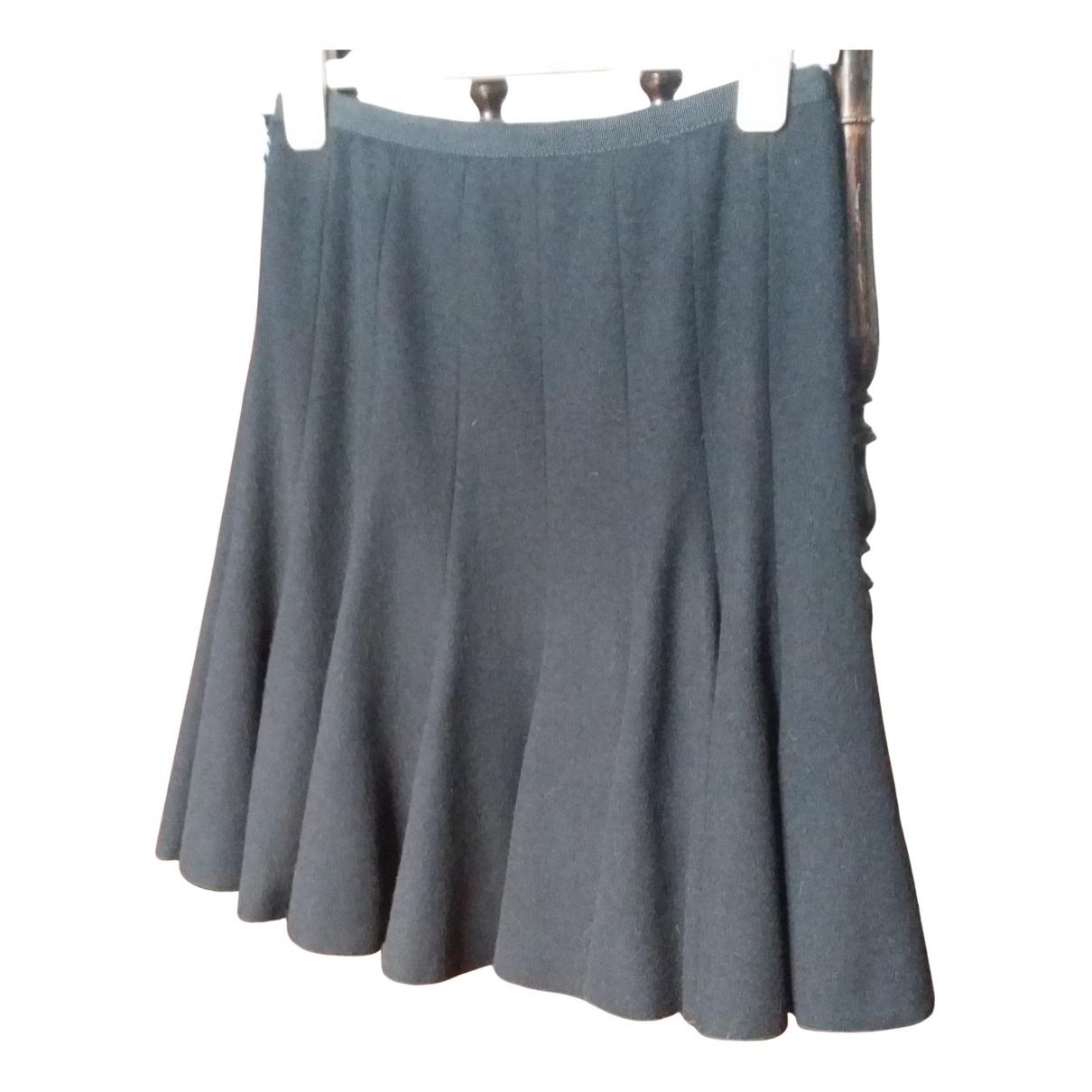 Paule Ka N Black Wool skirt for Women 36 FR