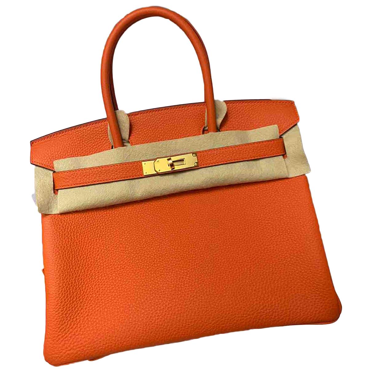 Hermès Birkin 30 Orange Leather handbag for Women \N