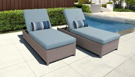 Monterey Collection MONTEREY-W-2x-SPA Set of 2 Chaises - Beige and Spa