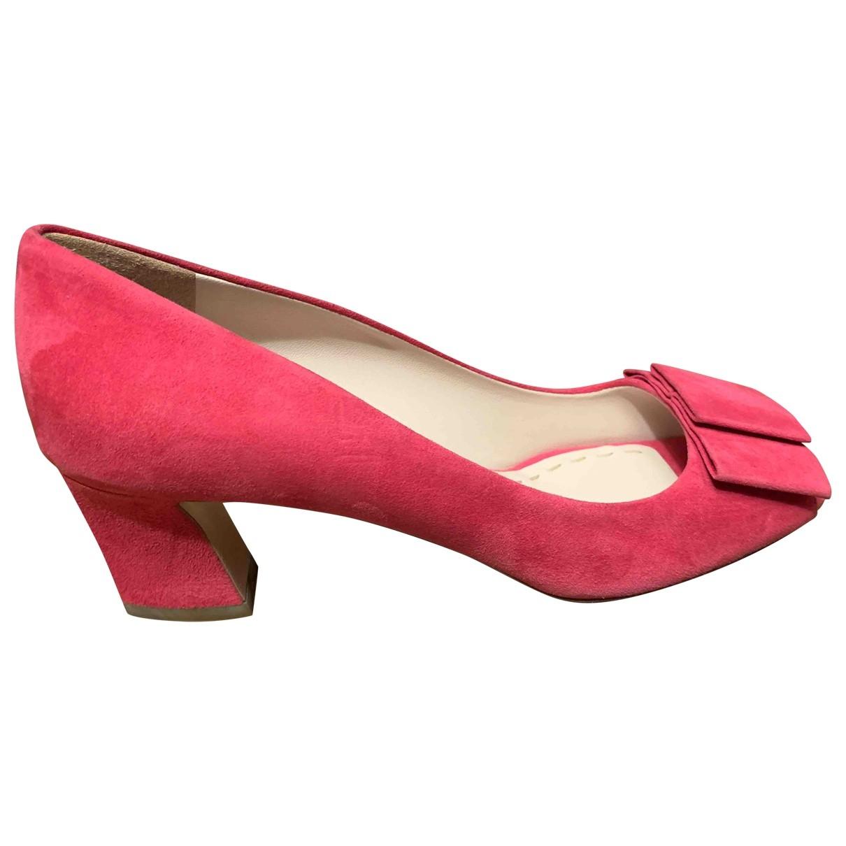 Miu Miu \N Pink Suede Heels for Women 37 EU